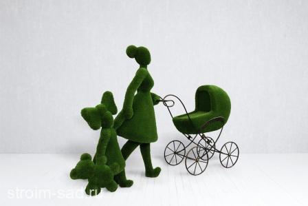 Топиари Мама с детьми