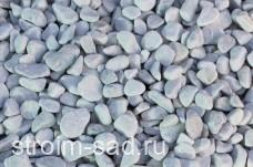 Щебень галтованый белый (мрамор) фр.20-40 мм.