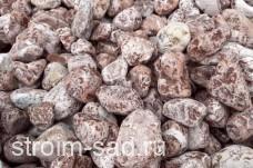 Щебень галтованый розовый (мрамор) фр.40-70 мм.