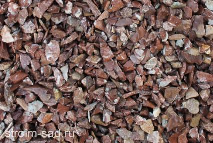 Декоративный щебень  розовый (мрамор) фр. 5-20 мм.