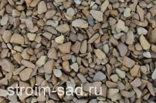 Щебень декоративный желтый (песчаник) фр. 10-20 мм.