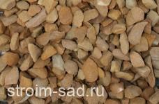 Декоративный щебень  желтый (песчаник) фр. 20-40 мм.