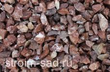 Щебень декоративный розовый (мрамор) фр. 20-40 мм.