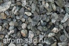 Щебень декоративный зеленый (змеевик) фр. 20-40 мм.