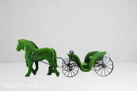 Топиари Карета, запряженная лошадьми