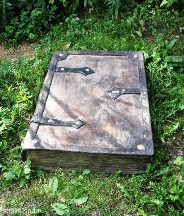 Искусственный камень-валун «Старинная книга» D-80