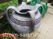 Авторская скульптура «Кувшин», кашпо