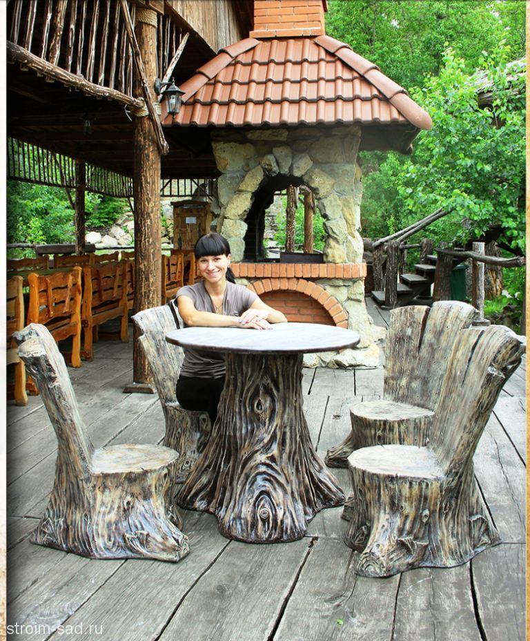 Комплект садовой мебели «Лесные пни»