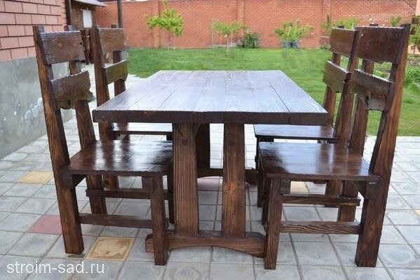 Мебель садовая Викинг 1,3х1м