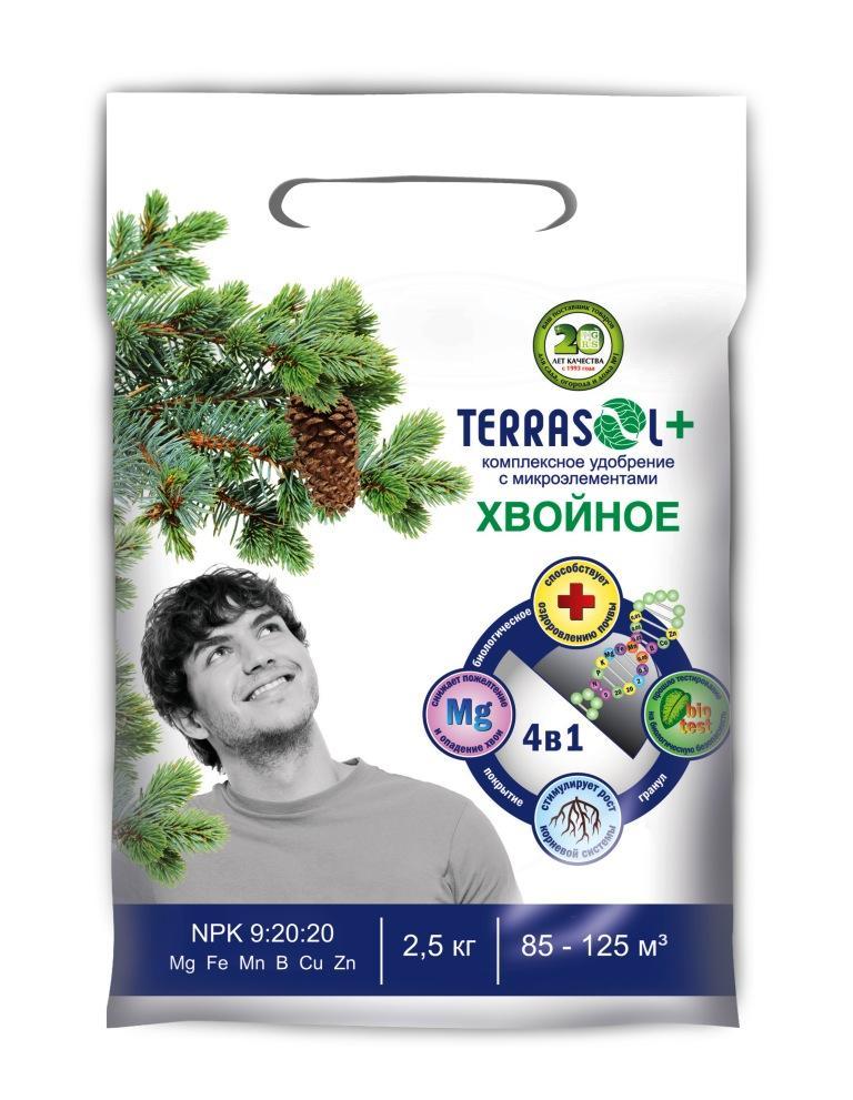 Удобрение сухое Террасол гранулированное Хвойное 2, 5 кг , шт