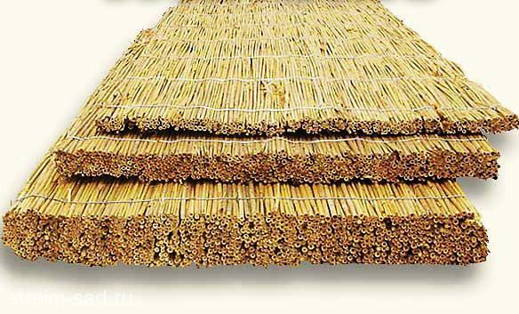 Тростниковые маты(многослойные, т. 5 см) 1.0х2.0 , шт