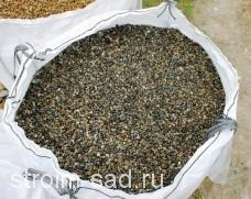 Галька окат речная (серая) фр. 10-20 мм, меш 25 кг
