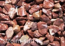 Щебень для ландшафта галтованный (розовый мрамор) фр. 20-40 , меш. 25 кг