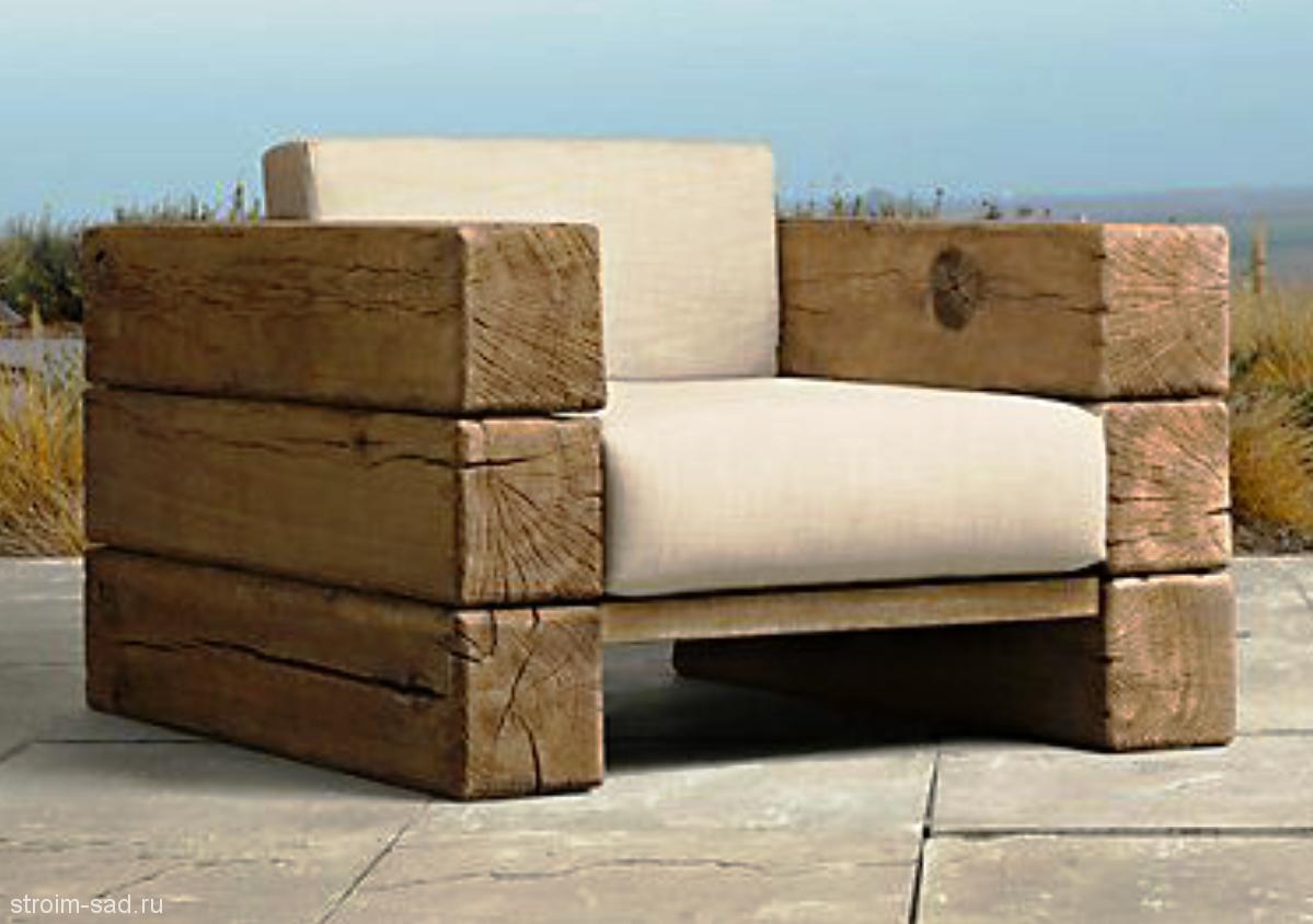 Кресло из бруса