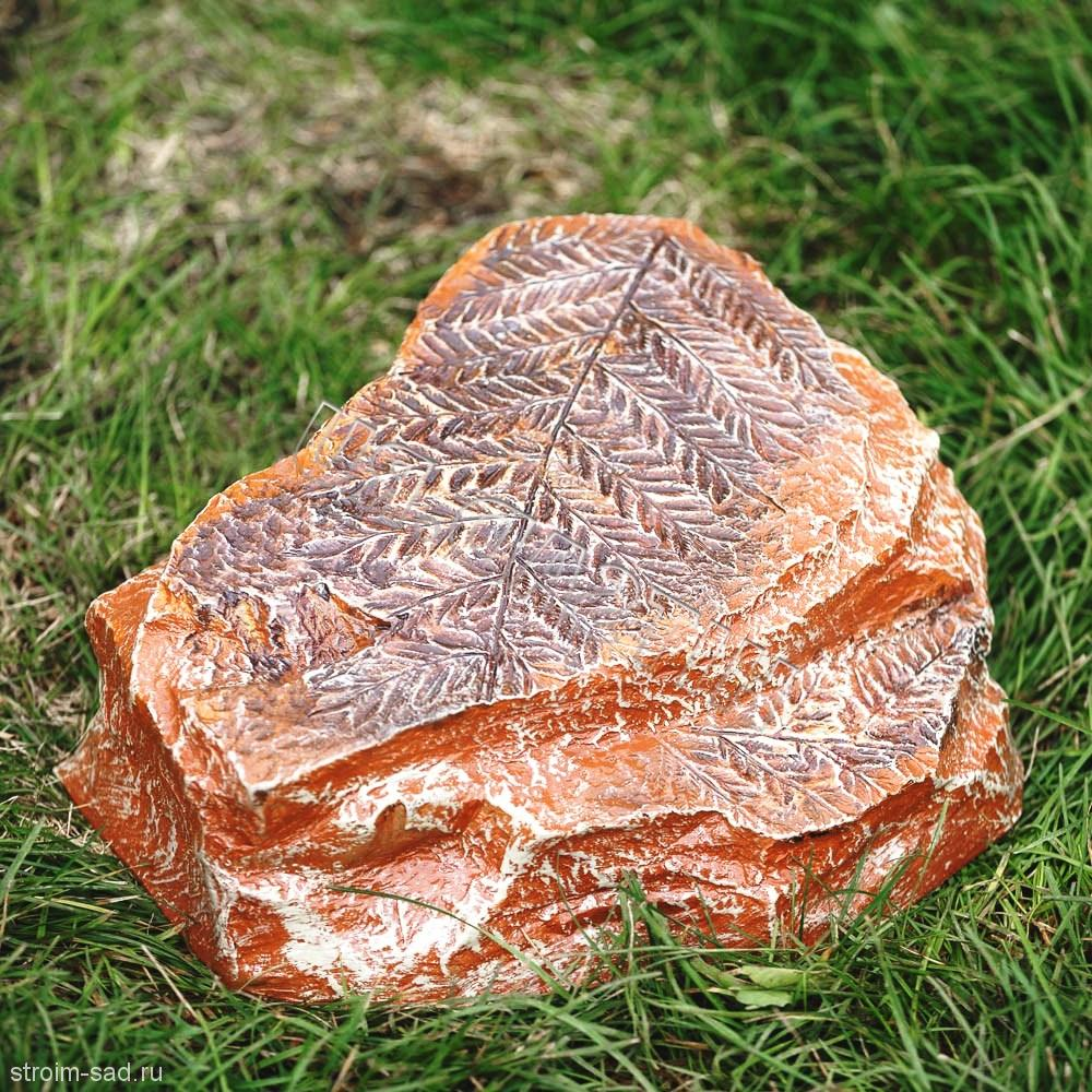 Искусственный камень-валун «Окаменелый папоротник» D-30