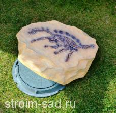 Искусственный камень-валун «Скелет Стегозавра» D-90