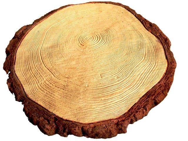 Плитка бетонная «Спил дерева» D-22 см, шт