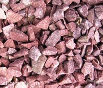 Красный гранитный щебень фр. 10-20мм