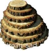 Спилы для декора, дуб без шлифовки, d 5-15 см, h 2 см
