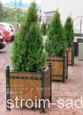 Деревянное кашпо уличное КМЛ-2