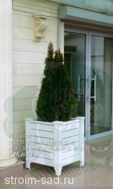 Деревянное кашпо уличное КМЛ-7